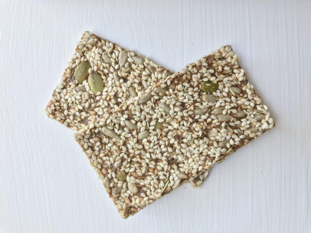 Rosemary and Himalayan Sea Salt Seed Crackers, Mia Ringsparr