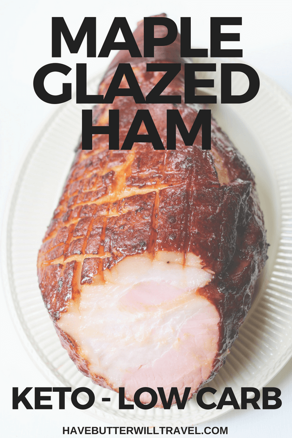 Ham is a tradition at Christmas and Easter meals. This keto ham is delicious. It is maple glazed and perfect for Christmas and Easter Lunch or dinner.
