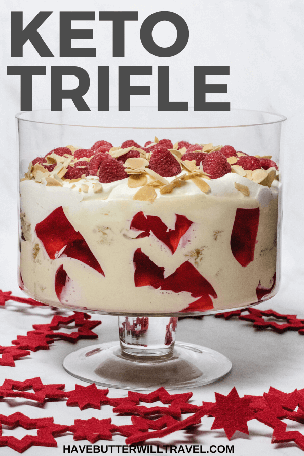 Trifle is a must have on many dessert tables on Christmas Day and your family and friends will absolutely love this keto trifle filled with raspberries #ketotrifle #ketoChristmas #ketochristmasdessert #ketochristmasrecipe