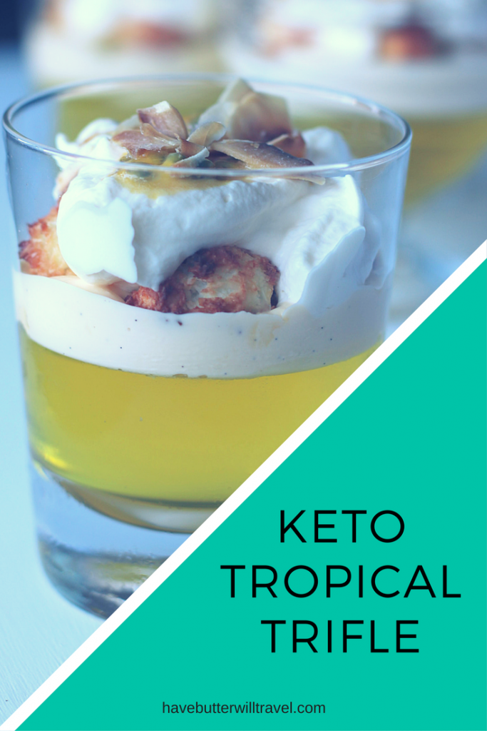 This Keto Tropical Trifle Recipe would be perfect for Christmas parties you may be attending. Offer to bring dessert and you will be everyone's favourite.
