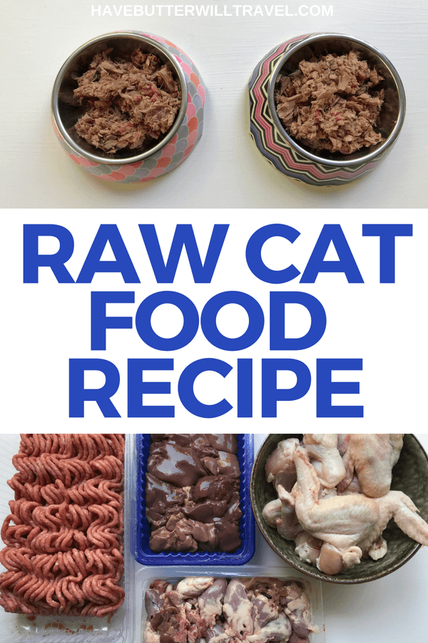 Raw cat food recipe. A recipe made using real food, easily found in the supermarket, designed for optimal health for your cats.
