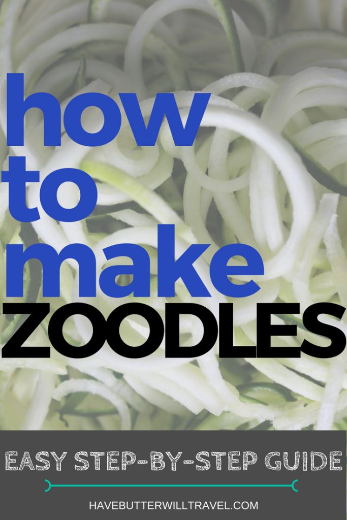 Learning to make zucchini noodles at home it quick and easy. How to make zucchini noodles is part of the Have Butter will travel 'How to' series.