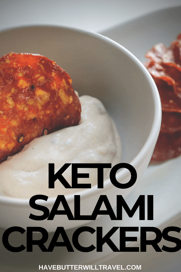 Salami crackers are an excellent keto cracker option. How to make Salami crisps is part of the Have Butter will travel 'How to' series.