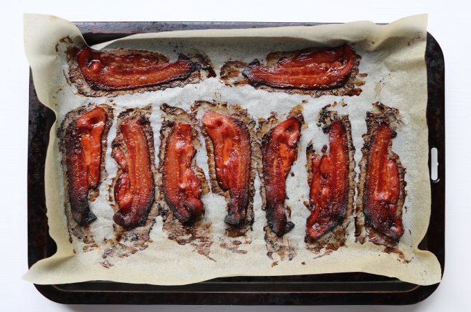 Bacon out of the oven