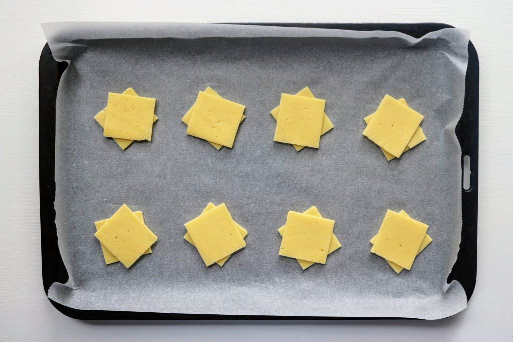 Cheese Crackers ready to go in the oven