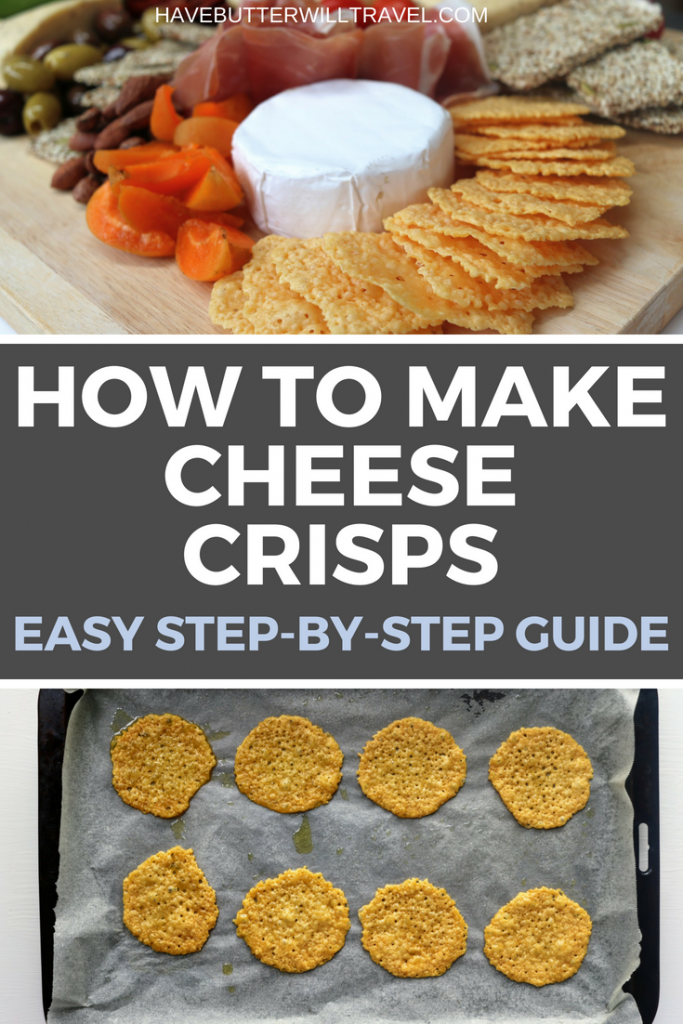 Cheese crackers are a great cracker option when living the keto lifestyle. How to make cheese crisps part of the Have Butter will travel 'How to' series.