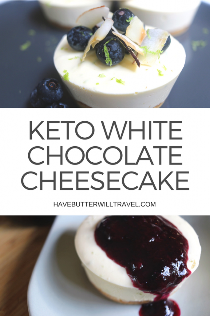This keto white chocolate cheesecake is so smooth and creamy, the white chocolate gives them such a delicious texture. Given the flavours of this cheesecake, they are versatile and allow creativity with toppings. These work well with our blueberry sauce that is coming soon.
