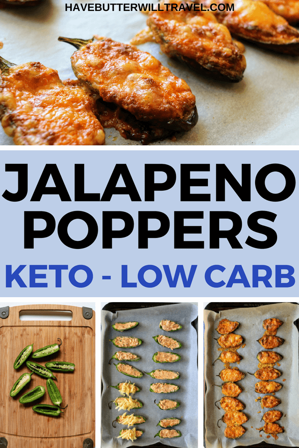 These keto jalapeño poppers are one of Dan's favourites. We love to have them with chicken wings and this meal feels like a real treat.