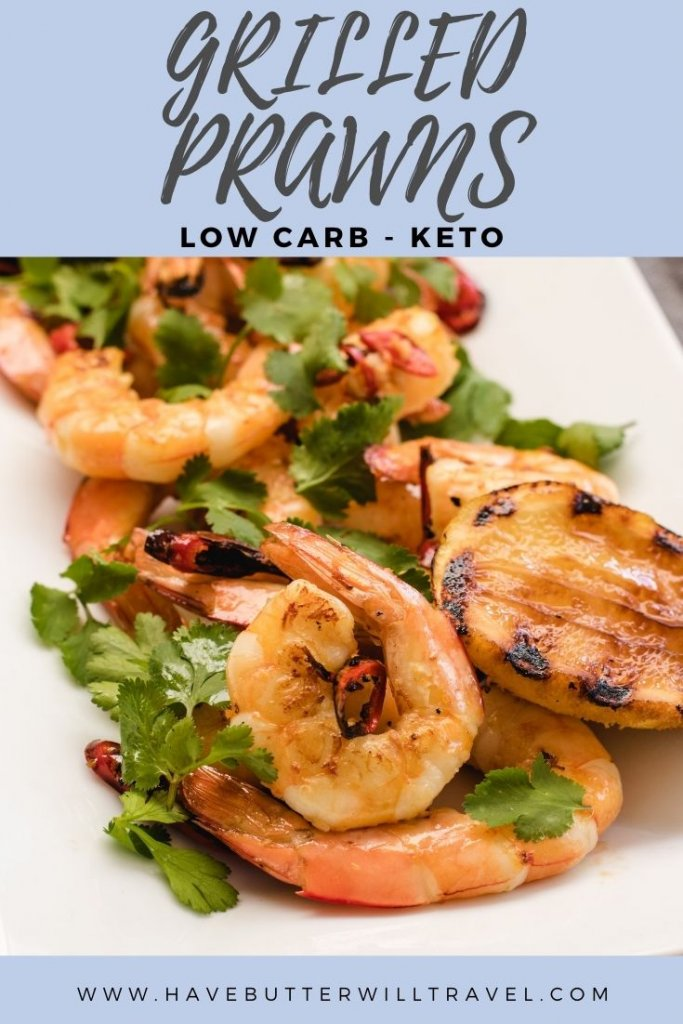 In summer the BBQ is a great cooking option and these keto prawns are perfect for it. This meal is super delicious and super low carb. #grilledprawns #ketoprawns #lowcarbprawns