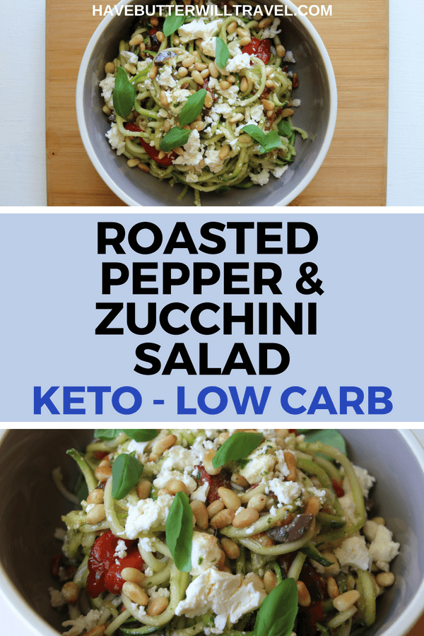 This salad is a summery change from plain zucchini noodles. Keto zucchini salad is an excellent option to take to a BBQ or family get together.