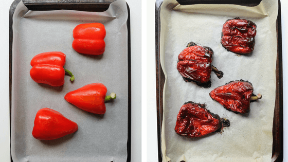Learning how to roast peppers or capsicum is simple & easy. We recommend having some stored in the fridge to add to salads or eggs for a delicious omelette.
