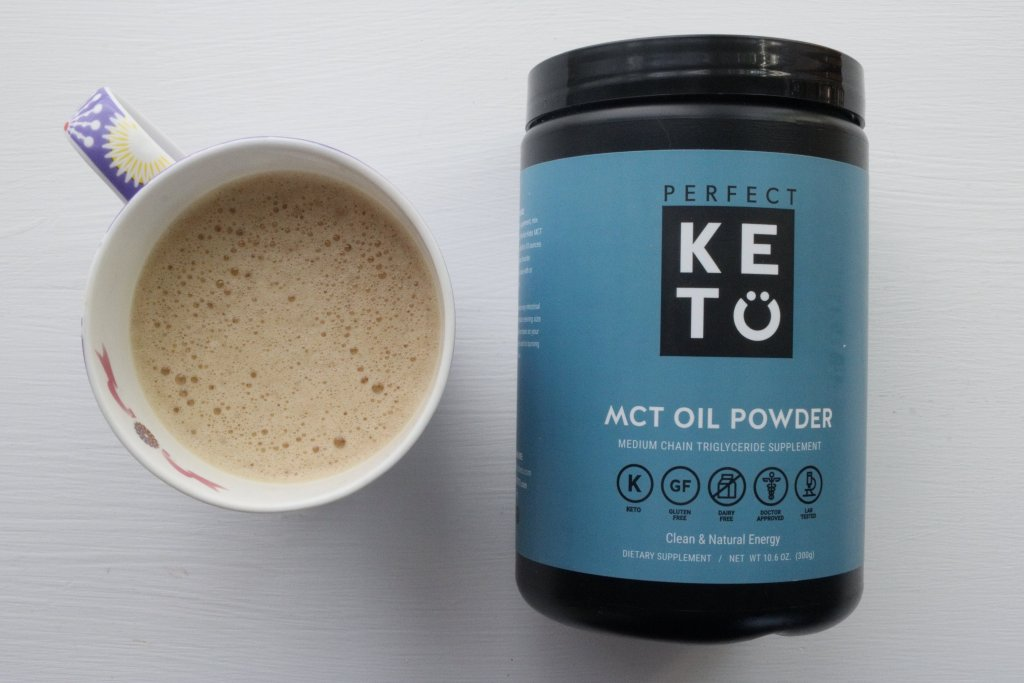 Perfect Keto powdered MCT oil in my coffee