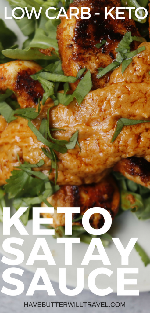 This easy low carb satay sauce is a great option to serve to your non keto family and friends. It can be really handy to some recipes that are real crowd pleasers and this is one of them. This peanut sauce is versatile, quick and easy to make and works with chicken, seafood, beef and pork.