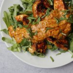 Satay sauce with grilled chicken