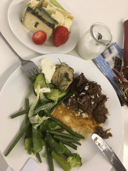 Low carb Lunch served at the conference