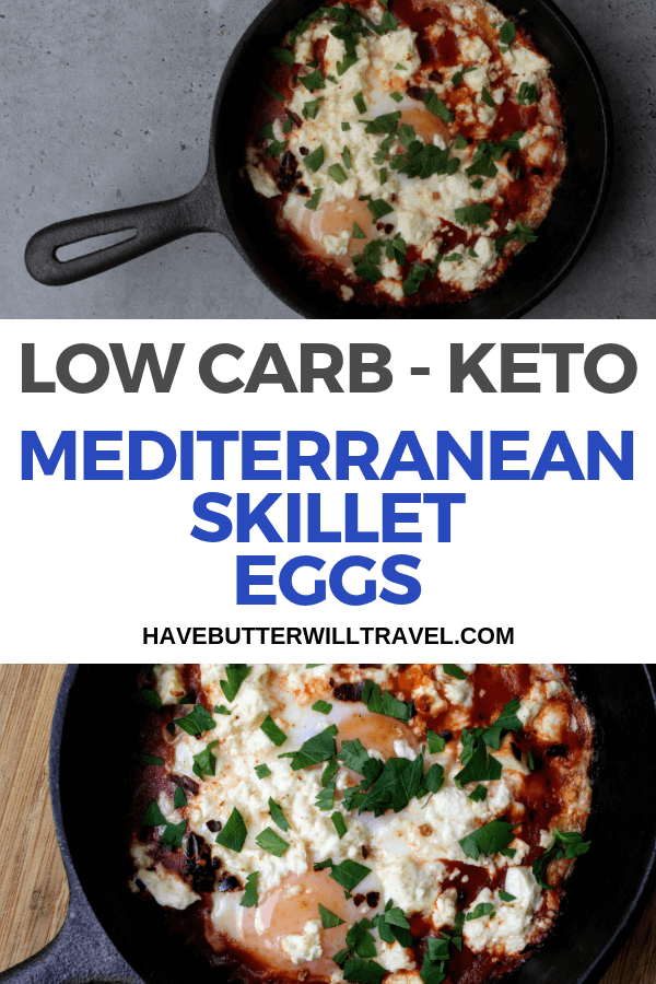 These keto Mediterranean eggs are an excellent option to try if you are getting sick of the standard bacon and eggs. Easy to make at home.