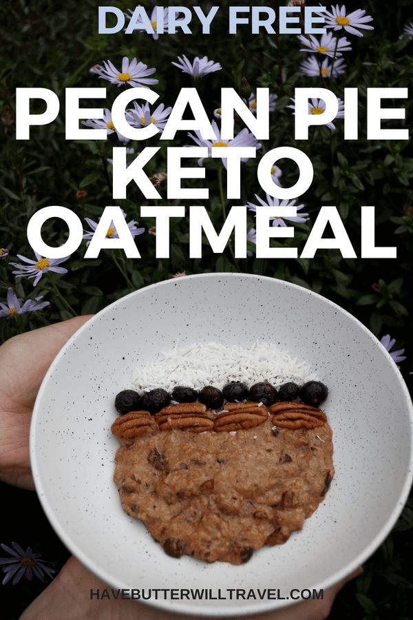 This pecan pie keto oatmeal is definitely comfort food. This isn't a plain old boring oatmeal as the pecan pie flavours in this keto oatmeal are delicious