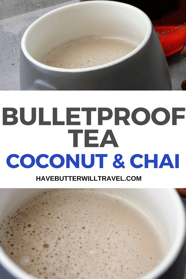 Not a fan of coffee and looking for a bulletproof drink option? Try a bulletproof tea. This coconut and chai bulletproof tea is the perfect alternative.