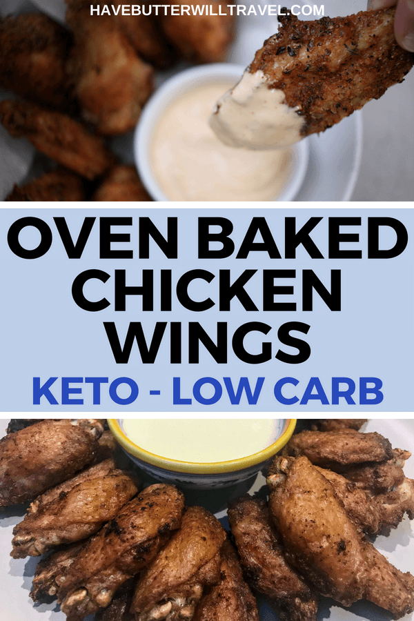 Keto chicken wings are so quick and easy to make. Baking them in the oven with some olive oil and seasoning is the perfect keto option.