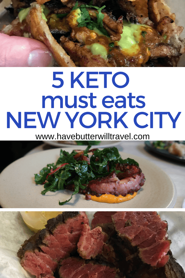 If you are planning a trip to New York or it's your home make sure you check out the keto must eats in New York. 5 great keto options in New York City.