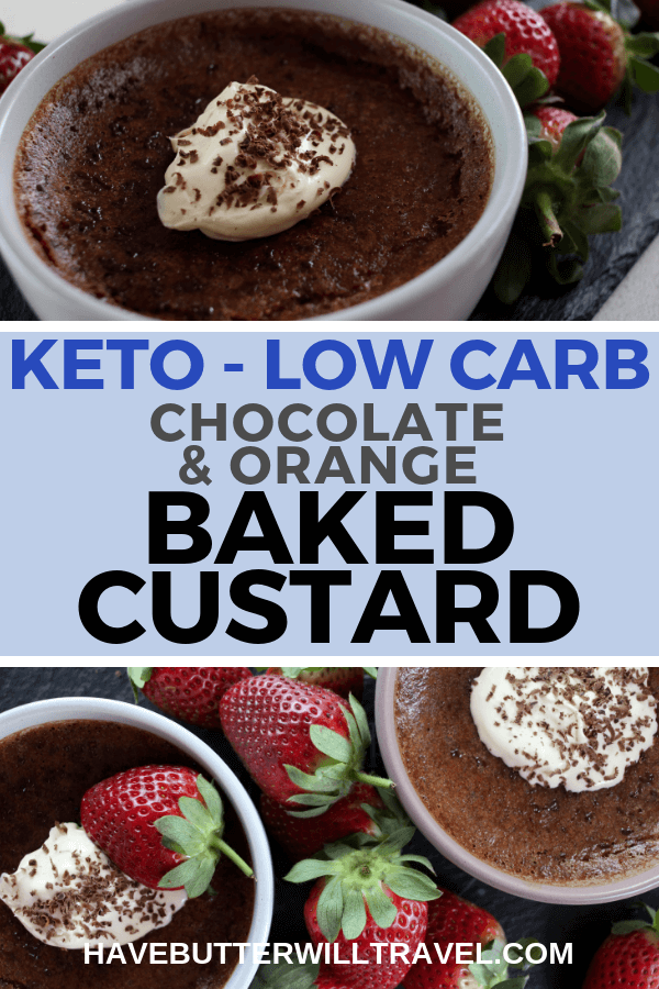 Love Custard? You need to try this delicious keto baked custard. It combines chocolate and orange flavours for a easy dessert, everyone will love.