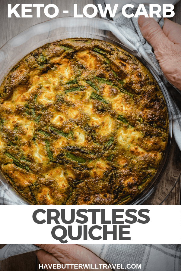 This easy keto quiche recipe is the perfect meal for breakfast or lunch. As it is a crustless quiche is very low carb at only 1 gram of carbs per serve. #keto #lowcarb #ketoquiche