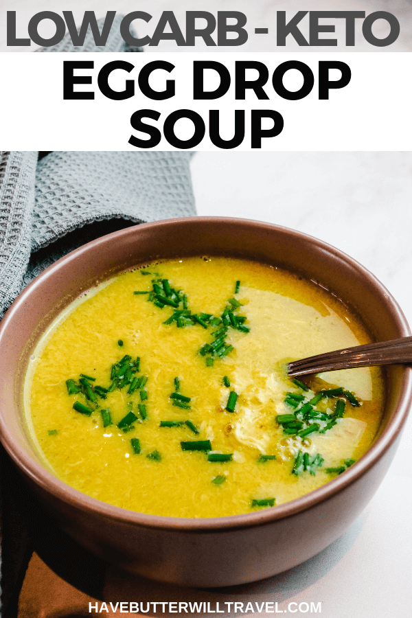 This delicious keto egg drop soup recipe is the perfect way to add bone broth to your diet. Keto egg drop soup is a quick & easy option for breakfast.#ketoeggdropsoup #eggdropsoup #keto #lowcarb #lowcarbeggdropsoup