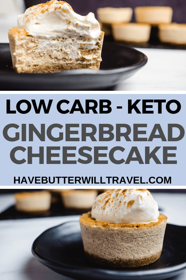 This keto gingerbread cheesecake is the perfect dessert for any occasion. Bringing the flavours of Christmas, this will be a big hit on Christmas day.  #keto #ketodessert #ketochristmasdessert #lowcarb #lowcarbdessert