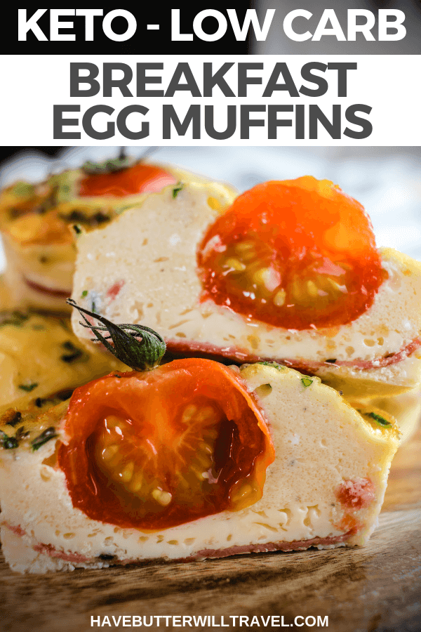 Keto egg muffins are a perfect keto breakfast option. Great for an on the go lunch or breakfast and a perfect addition to the kid's keto lunchbox. #ketobreakfast #ketomuffins #lowcarb #keto