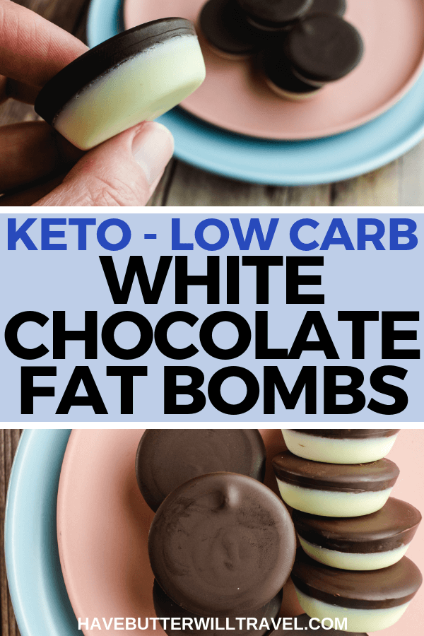 This white chocolate keto fat bomb are easy to make & are great to have on hand when you are craving a sweet treat. Just like Top deck without the sugar. #sugarfreechocolate #ketochocolate #ketofatbomb