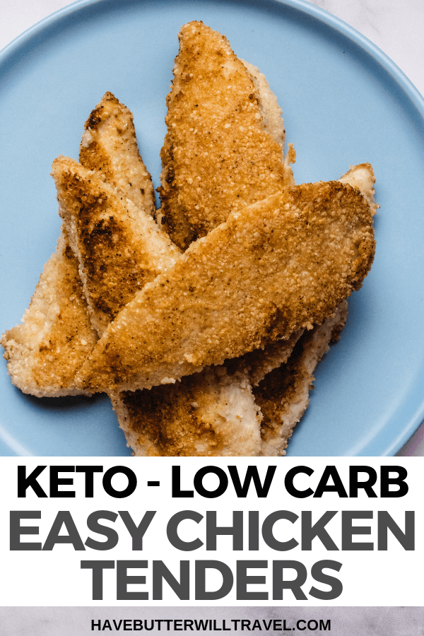 These keto chicken tenders are super quick and easy to make and delicious with a toasty sesame flavour. Perfect for kid school lunches as they are nut free. #keto #lowcarb #ketochickentenders #ketochicken