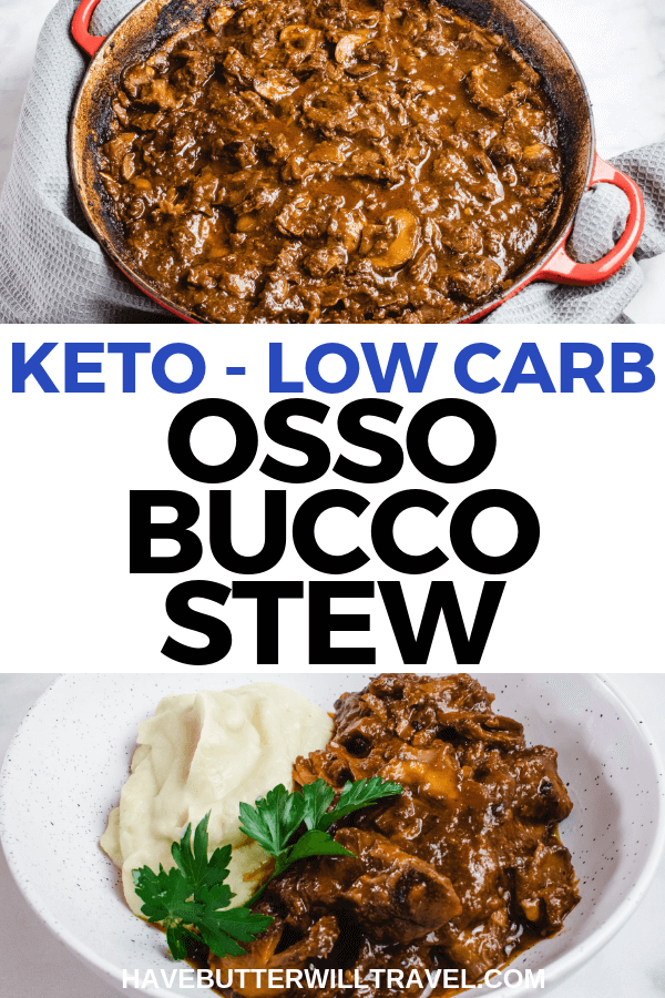 This keto osso bucco is the perfect keto winter warmer. It is so rich and warming and will please even your non keto friends. #keto #ketoossobucco #ossobucco #lowcarb