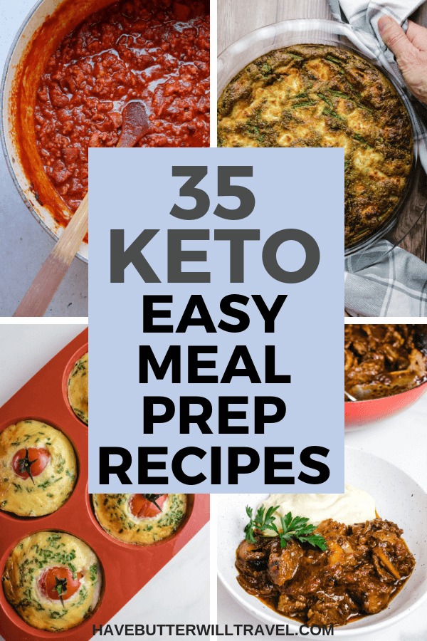 Are you looking for easy keto meal prep recipes? We have 35 of the easiest & most delicious keto meal prep recipes that will up your keto meal prep game. #ketomealprep #easyketomealprep #ketomeals #keto #lowcarb #lowcarbmealprep