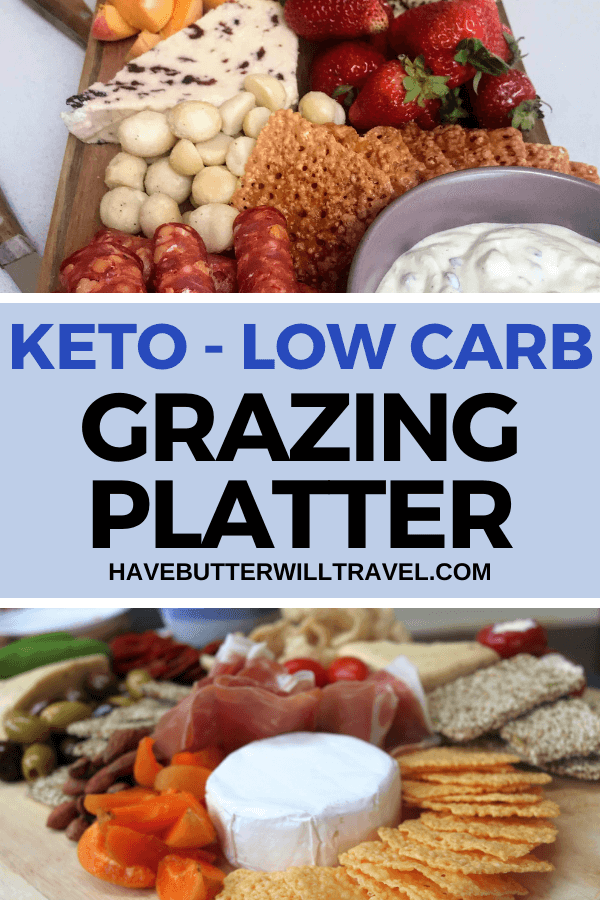 A keto grazing platter is an excellent option to serve when entertaining. It has maximum wow factor for minimal effort and is easy to make keto friendly. #ketograzingplatter #ketograzingboard #Ketoentertaining