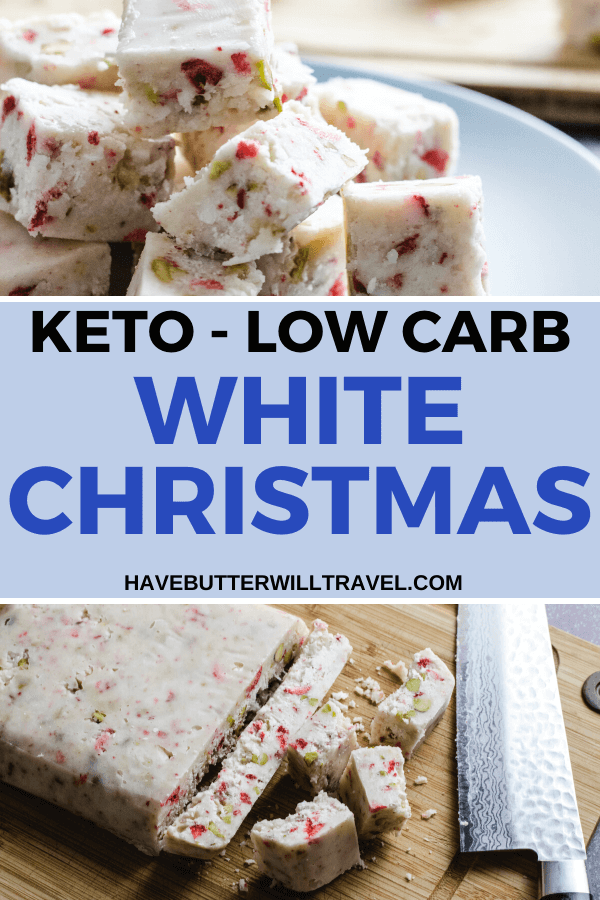 Keto white Christmas is the perfect replacement for the traditional white Christmas. Serve to your family and friends this Christmas and they won't even notice the difference. #Christmasrecipes #healthywhitechristmasrecipe #ketowhitechristmas #ketowhitechocolatefudge #ketochristmasrecipes #ketoholidayrecipes