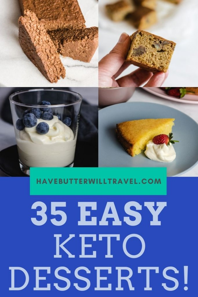 These 25 easy keto desserts are not only easy and keto, but also are packed full of flavour. Satisfy your sweet tooth with these easy keto dessert recipes. #ketodesserts #easyketodesserts #ketodessertsrecipes #easyketodessertsrecipe