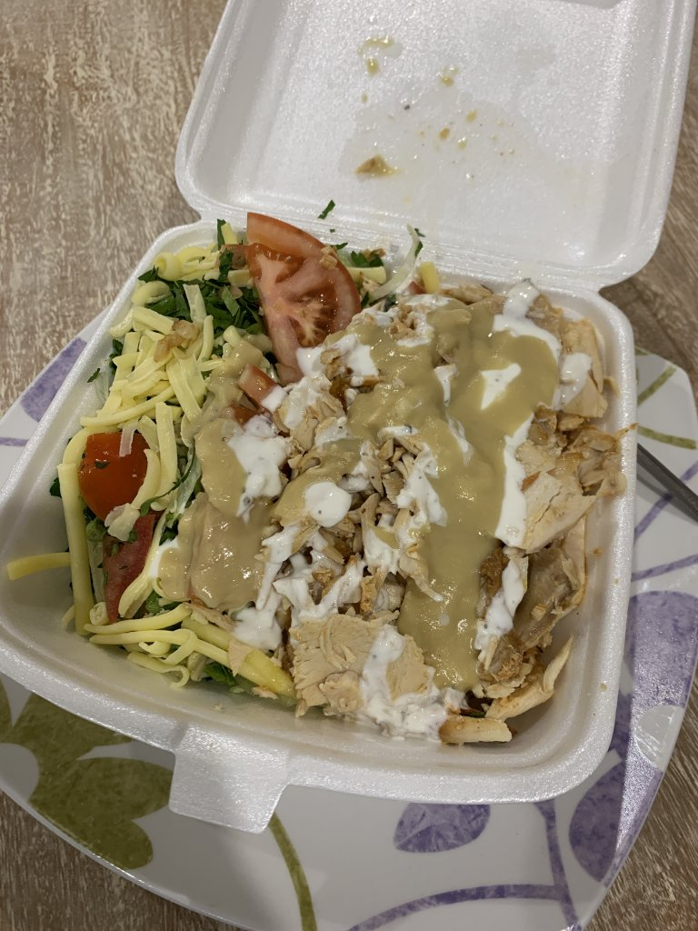 Photo of a kebab in a bowl