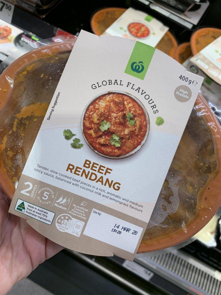 beef rendang in packet