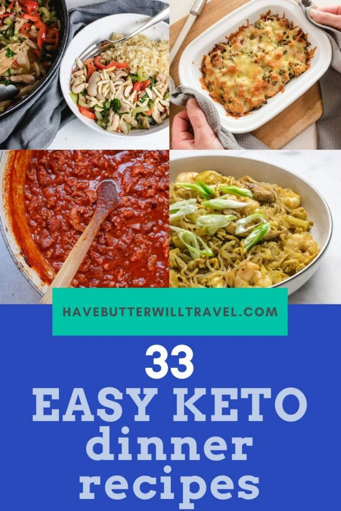 With over 30 easy keto dinners, you will have over a month worth of dinner recipes. If you have been looking for easy keto dinner recipes, this is for you. #ketodinners #easyketodinners #bestketodinners