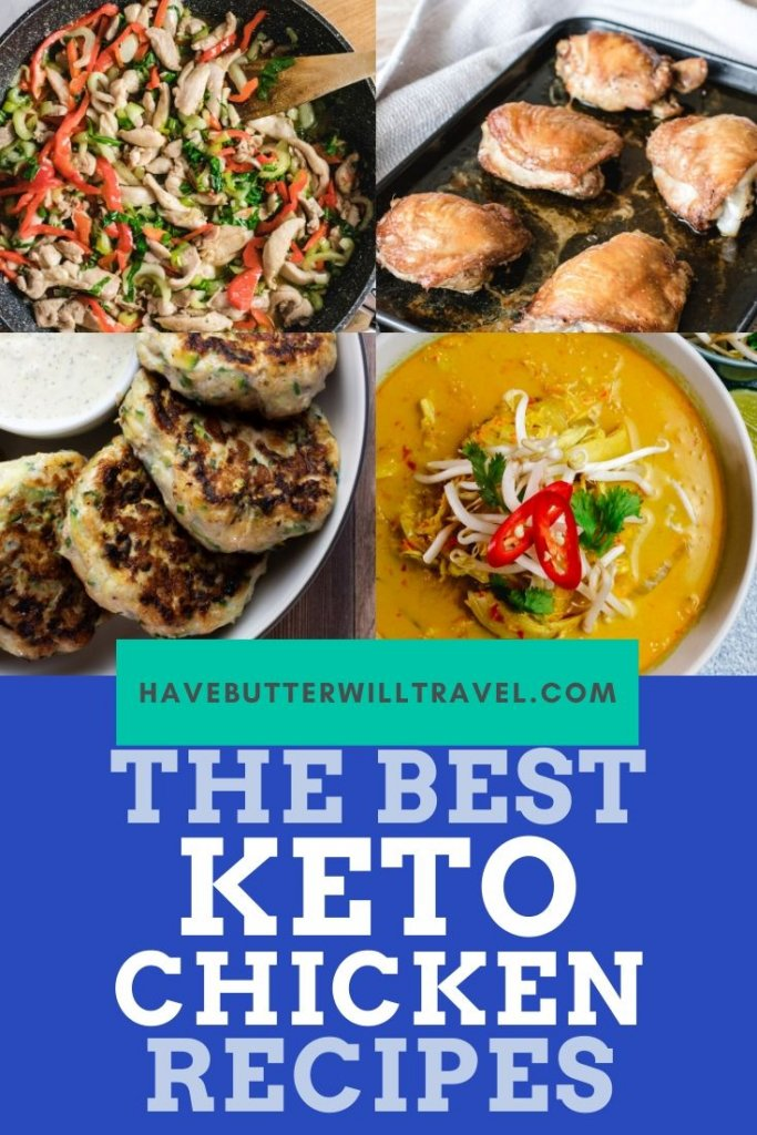 35 of the best keto chicken recipes, all in the one place. The best wing, thigh, breast, drumsticks and whole chicken recipes for a keto lifestyle. #ketochicken #ketochickenrecipes #bestketochickenrecipes
