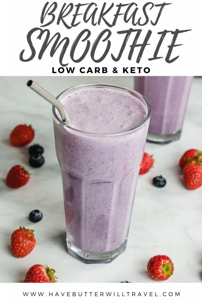 This keto breakfast smoothie recipe is the perfect on the go keto breakfast. Easy to prepare and ready in less than 5 minutes, the perfect keto breakfast. #breakfastsmoothie #ketosmoothie #ketobreakfastsmoothie