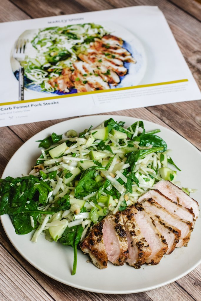Photo of low carb fennel pork steaks from the Marley Spoon review