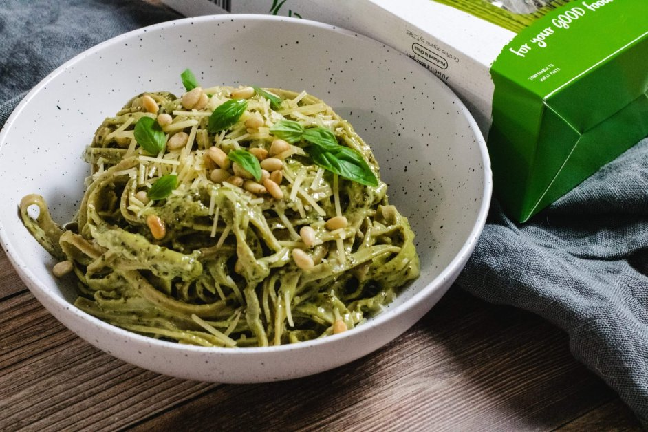 Keto Creamy Pesto Pasta Have Butter Will Travel