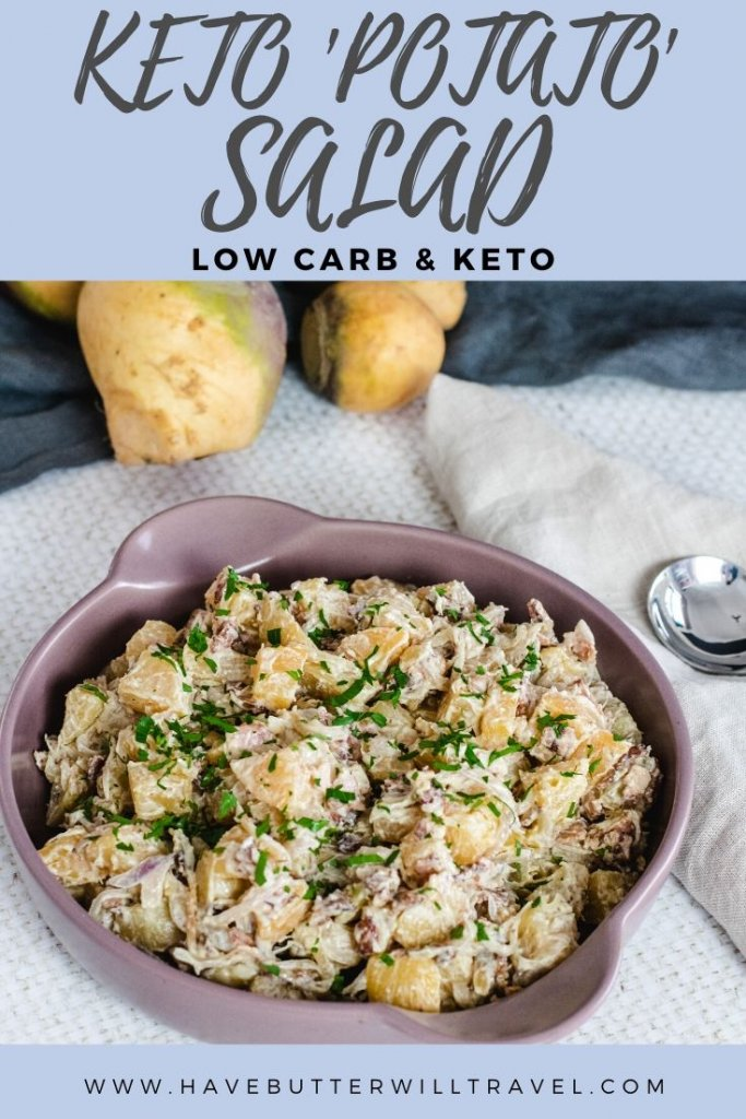 If you have been missing potato salad on your low carb lifestyle, this keto potato salad will definitely be the best replacement that you have tried. #ketopotatosalad #ketoside