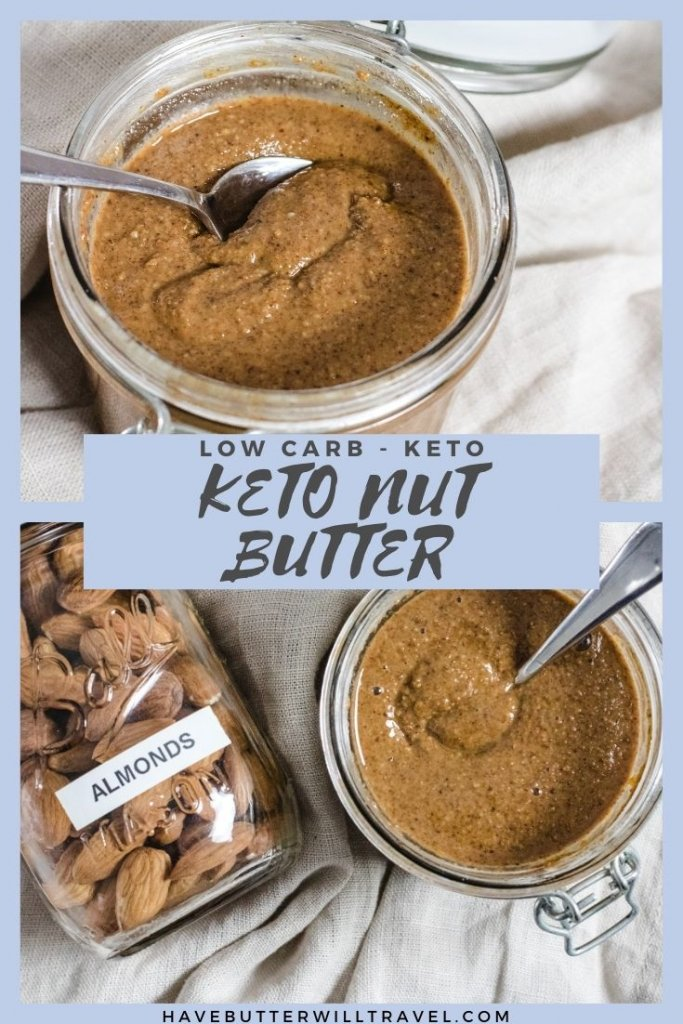 You will quickly fall in love with this easy to make keto nut butter recipe. No more buying expensive nut butter. #almondbutter #almondbutterrecipe #homemadealmondbutter