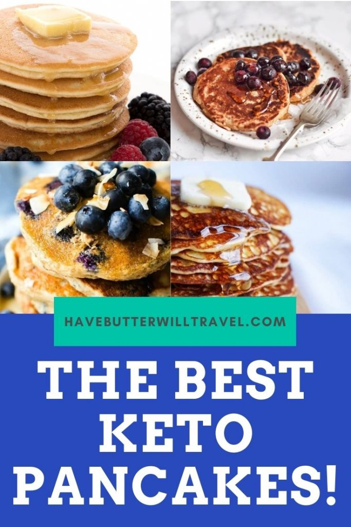 Check out 24 of the best keto pancake recipes we could find. Including Nut free and egg free keto pancake options. #ketopancakes #ketopancakerecipes #lowcarbpancakes