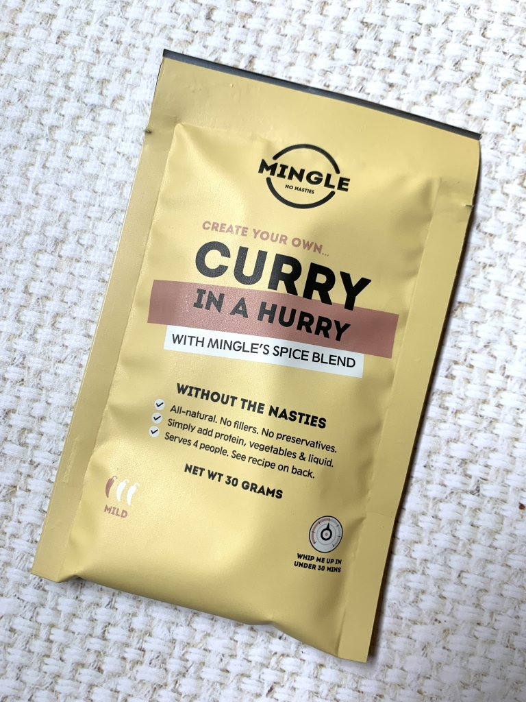 mingle curry in a hurry packet