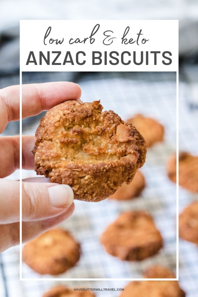 These keto Anzac biscuits are the perfect biscuit to make for Anzac Day or any day really. They are the perfect soft and chewy Anzac biscuit.