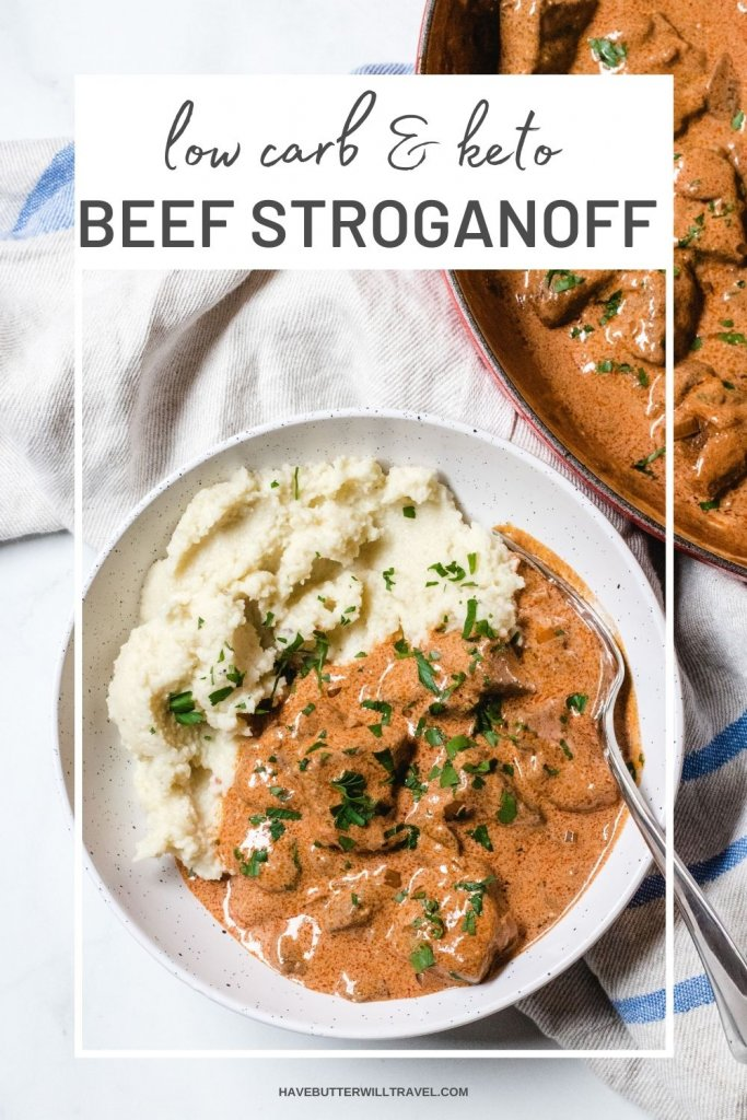If you have never tried beef stroganoff now is the time to try this delicious meal. The sauce alone in this keto beef stroganoff is worth it!
